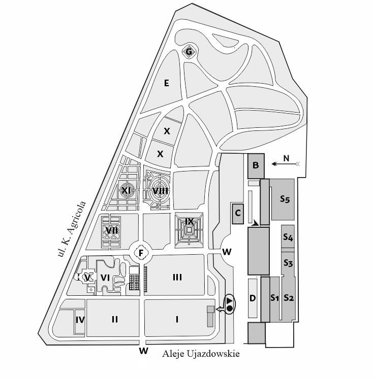 Mapa ogrodu